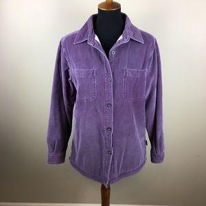 Woolrich corduroy fleece lined shirt size M